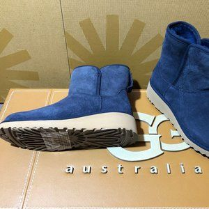 NEW WOMENS UGG KRISTIN NAVY BLUE WEDGE BOOTS